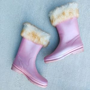 Pearly Pink Rain boots